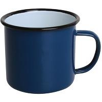 Mugs en acier émaillé bleu et noir olympia...