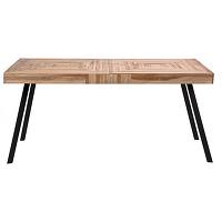 Pamenang - table à manger en métal et teck...