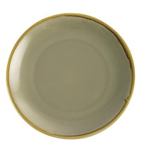 Assiette plate ronde couleur mousse olympia...