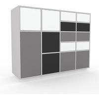 Commode - gris, moderne, raffinée, avec porte...