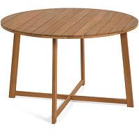 Dafna - table à manger de jardin ronde en bois...