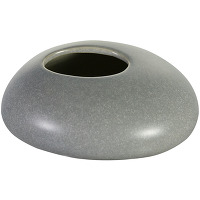 Vase en porcelaine gris 11,5 cm