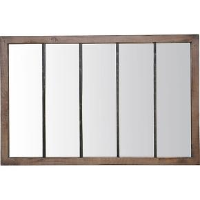 Oppy - miroir verrière en métal et bois 140x90...