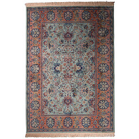 Old bid - tapis de salon persan vert