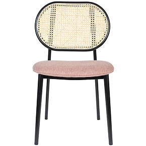 Spike - chaise en tissu et cannage