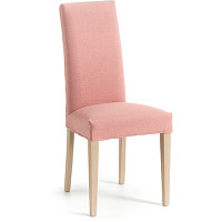 Kave home - chaise freda rose et naturel