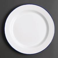 Assiette plate en acier émaillé olympia 245mm...