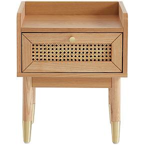 Bombong - table de chevet 1 tiroir en bois et...