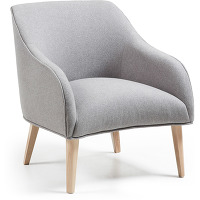 Kave home - fauteuil bobly gris