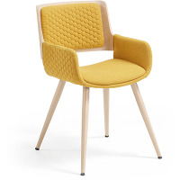 Kave home - chaise angie moutarde