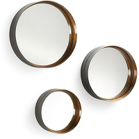 Wilton - 3 miroirs métal doré