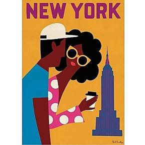 Affiche art par paul thurlby - new york