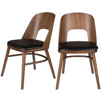 Talika - 2 chaises en bois et simili