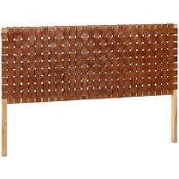 Campechuela - tête de lit en bois et cuir 153cm