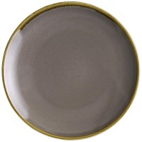 Assiettes plates rondes grises kiln olympia...