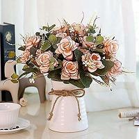 Lesing bouquet de fleurs artificielles en soie...