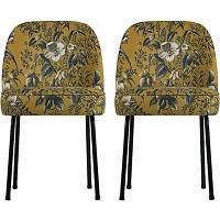 Vogue - 2 chaises design en velours