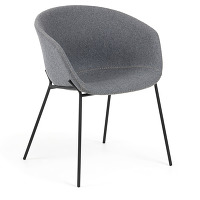 Kave home - chaise yvette gris