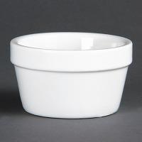 Ramequins blancs 77mm olympia - lot de 6