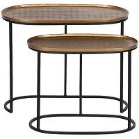 Embrace - 2 tables d'appoint gigognes en métal