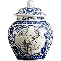 Fanquare jingdezhen vase en porcelaine bleu et...