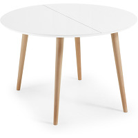 Kave home - table oqui extensible ronde 120...